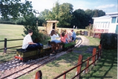 Passenger train going through Ingfield Central Station