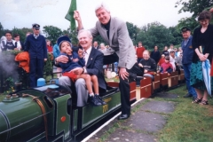 Tony Hart and Michael Aspell at an earlier Fete Day