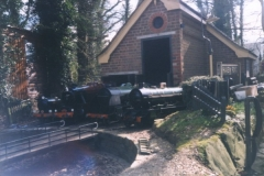 Locomotives outside the Haven Road engine shed