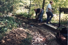 Early track work taking place at Ingfield