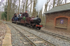 1102 pulling a passenger train into Bramble Hill