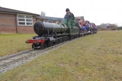 Passenger train just past Marsh Halt