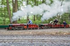 Double header in full steam leaving Bramble Hill