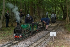 Double header in steam pulling passengers
