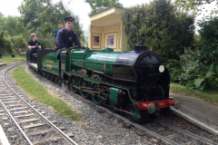 850 Nelson in steam at Ingfield Central station