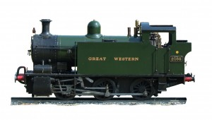 Photograph of the steam locomotive 2165 known as the Burry Port.